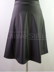 Juodas eko odos sijonas