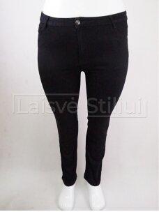 Juodi didelių dydžių džinsai SUNBIRD su lengvu pašiltinimu