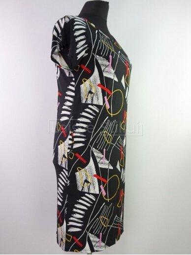 Juoda trikotažinė suknelė 2