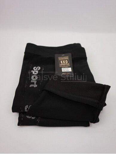Juodos kelnės KKO SPORT su pašiltinimu 4