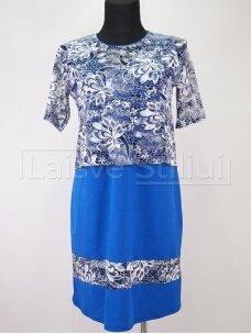 Mėlyna su gipiūru suknelė