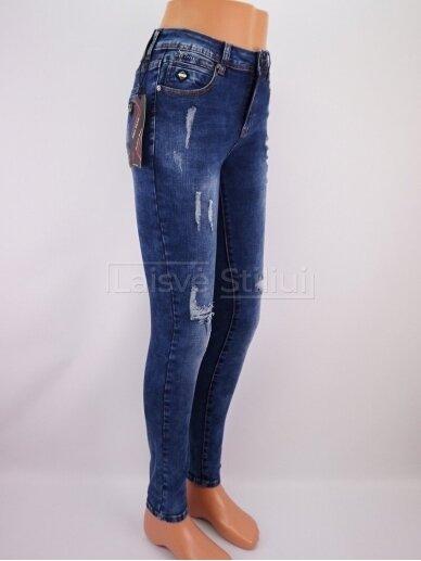 Mėlyni plėšyti džinsai NICE TOXIC 2