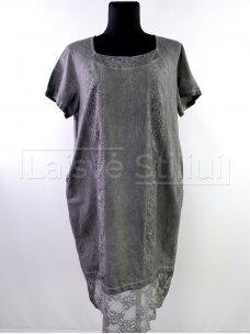Pilka tiesi suknelė
