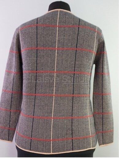 Pilkas su rusva megztinis su užtrauktuku 3