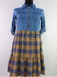Plono džinso suknelė