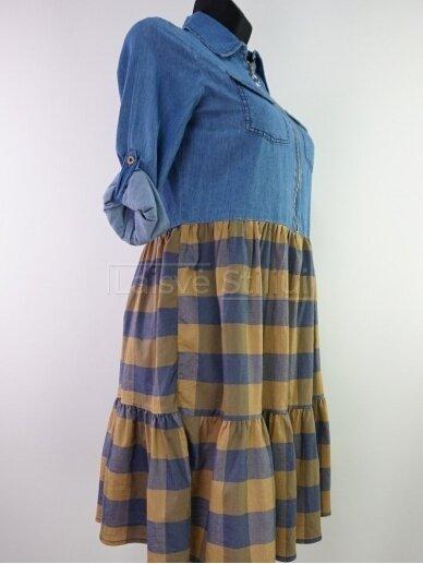 Plono džinso suknelė 2