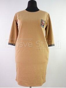 Rusva laisvalaikio suknelė