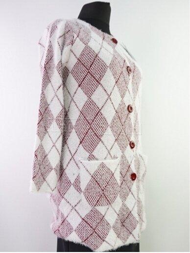 Šviesus su raudona megztinis 2