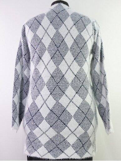 Šviesus su tamsiai mėlyna megztinis 3
