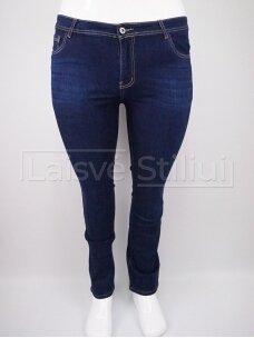 Tamsiai mėlyni klasikiniai džinsai MISS FANNY