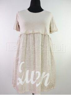 Vienspalvė suknelė parauktu sijonu