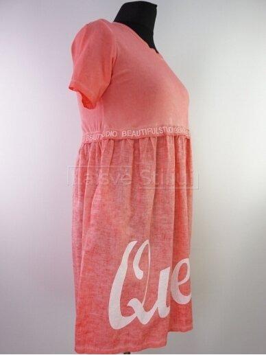 Vienspalvė suknelė parauktu sijonu 2